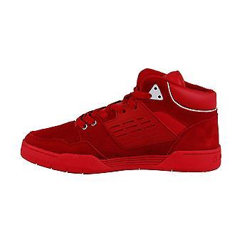 Champion de 3 sur 3 Mens Red Suede bas haut Lace Up chaussures Sneakers
