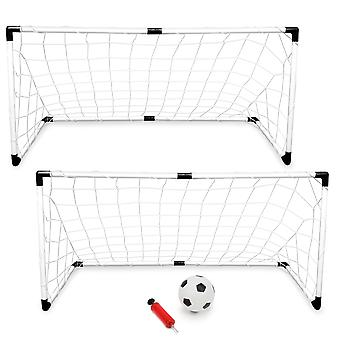 2-Pack Youth Soccer Goals with Soccer Ball and Pump