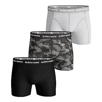 Bjorn Borg Essential Camo Shorts 3 Pack Cotton Stretch - Black Beauty