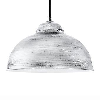 Eglo Truro 2 antiek zilveren Finish stalen hanger