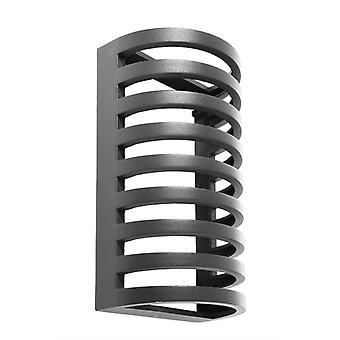 Cover III for LED wall lamp Grumium round dark grey aluminium