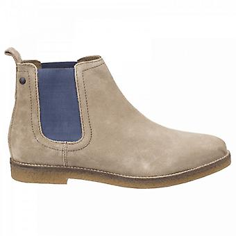 Base London Ferdinand Pop Mens Suede Chelsea Boots Taupe