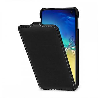 Case For Samsung Galaxy S10e Ultraslim Black Nappa In True Leather