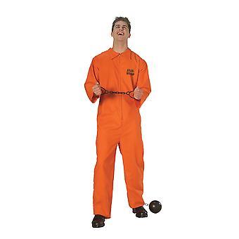 Bristol Novelty Mens Jail Bird Prisoner Costume