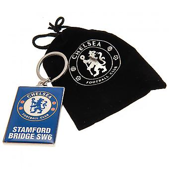 Chelsea FC Unisex vuxna Deluxe nyckelring