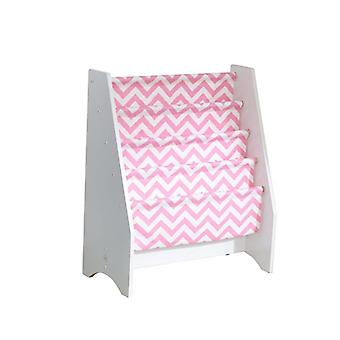 KidKraft Wooden magazine holder and Pink fabric