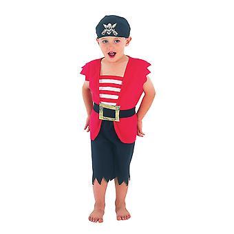 Bristol Novelty Boys Waistcoat And Shorts Pirate Costume