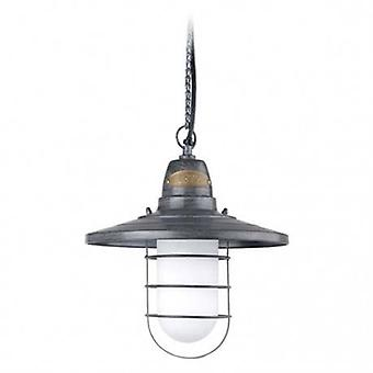 1 Light Ceiling Pendant Light Old Grey Ip44