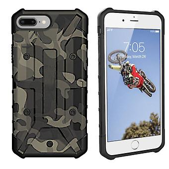 iPhone 8 Plus - 7 Plus - 6 Plus Case Transparent Green - Shockproof Army