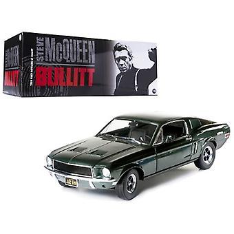1968 Ford Mustang GT Fastback 'Bullitt' Steve Mcqueen Highland Green 1/18 Diecast Car Model par Greenlight