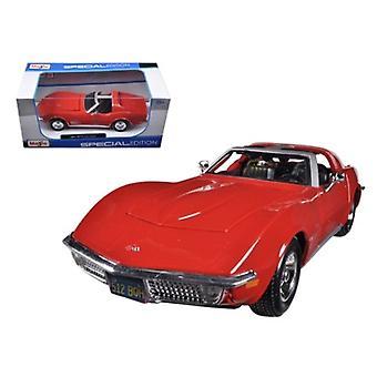 1970 Chevrolet Corvette Red 1/24 Diecast Car Model di Maisto