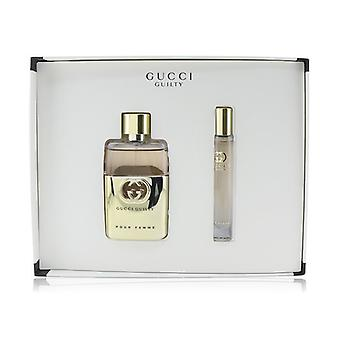 Gucci Guilty Pour Femme Coffret: Eau De Parfum Spray 50ml/1.6oz + Roller Ball 7.4ml/0.25oz - 2pcs Gucci Guilty Pour Femme Coffret: Eau De Parfum Spray 50ml/1.6oz + Roller Ball 7.4ml/0.25oz - 2pcs