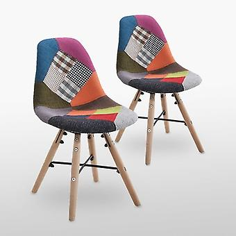Pair Of Children's Patchwork Bourne Chairs