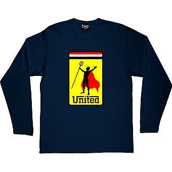 United Devil Navy Blue T-shirt met lange mouwen