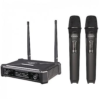 KAM Kam Kwm11pro Dual Uhf Fixed Frequency Handheld System