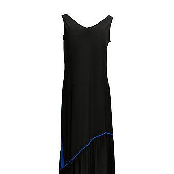 Attitudes by Renee Petite Dress Petite Como Maxi w/ Ruffle Hem Black  A301374