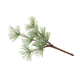 12 Frosted Pine Spruce Picks for Christmas Floristry Crafts