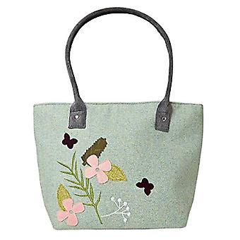 Joe Browns Spring Tweed Applique Tote Bag With Long Handle Woman Multi One Size