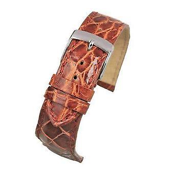 Genuine italian crocodile watch strap tan size 18mm and 20mm