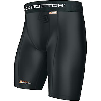 Shock Doctor Boy's Core Compression Shorts met Athletic Cup Pocket - Zwart