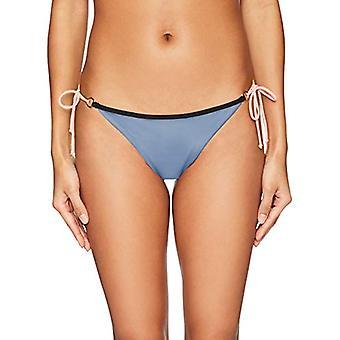 Body Glove Women's Brasilia Tie Side Cheeky Bikini Bottom Swimsuit, Storm Col...