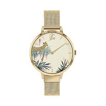 Sara Miller SA4064 Women's Tahiti Gold Tone Mesh Strap Wristwatch