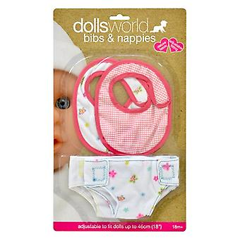Dolls World Bibs And Fabric Nappies