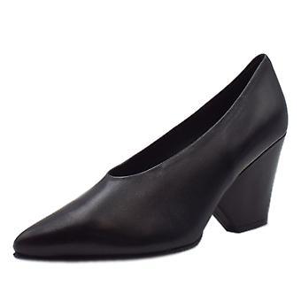 Peter Kaiser Lijana Stylish Wedge Court Shoes In Black Glove