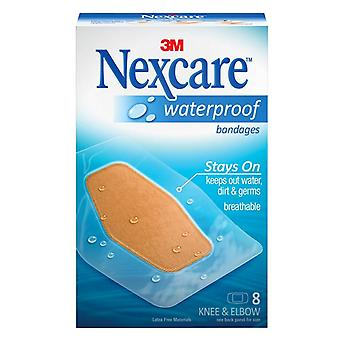Nexcare waterproof clear bandage, elbow and knee, 8 ea