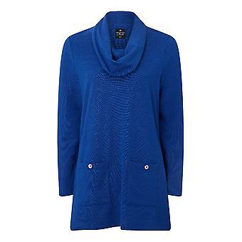 TIGI Blue Cowl Neck Tunic
