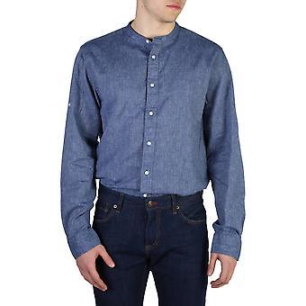 Tommy Hilfiger Original Hommes All Year Shirt - Blue Color 40673