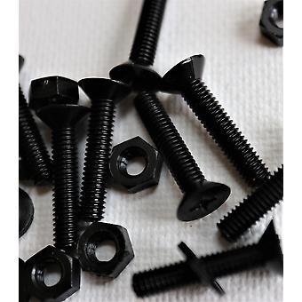 50 × النايلون الأسود كونتركغرق مسامير آلة بلاستيكية، M4 × 20mm، البراغي، المكسرات والغسالات