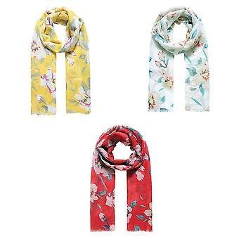 Jewelcity Womens/Ladies Glitter Wild Engels Flower Print Sjaal