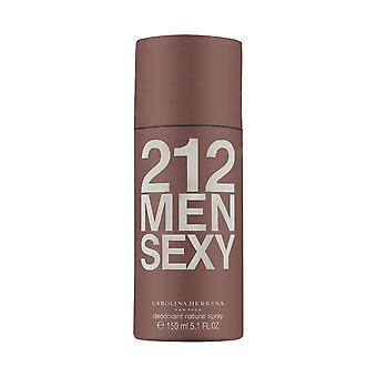 212 sexy menn av carolina herrera 5.0 oz deodorant spray