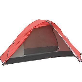 Single portable double tent