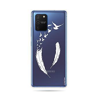 Rumpf für Samsung Galaxy S10 Lite Flexible Feder und Flug Vögel