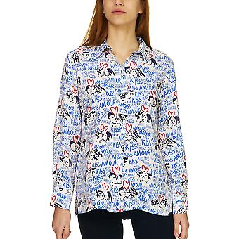 Dixie Women's White Printed Shirt