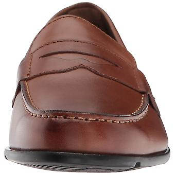 Rockport Mens M76444 Leather Round Toe Penny Loafer