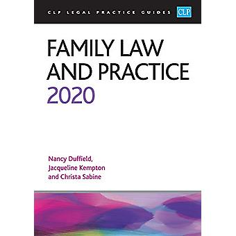 Family Law and Practice 2020 by Christa Sabine - 9781913226299 Book