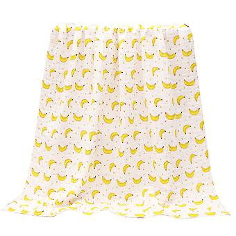 YANGFAN Cotton Pleated Printed Baby Bath Towel