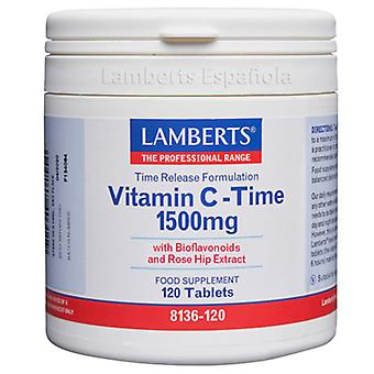 Lamberts Time Release Vitamin C 120 Tablets 1500 mg