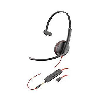 Plantronics Blackwire C3215 Uc Mono Usb C And 3 Mm Corded Headset