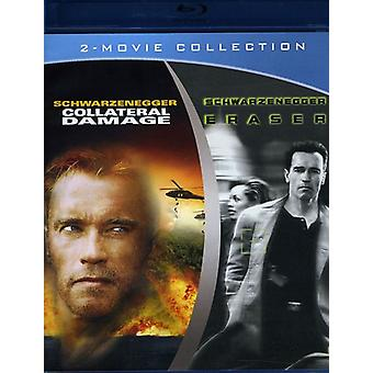 Eraser/Collateral Damage [BLU-RAY] USA import