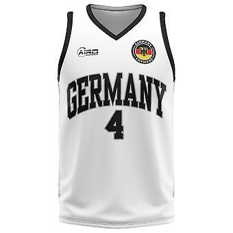 Germany Home Concept Basketball Shirt