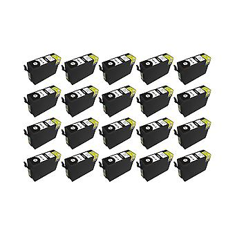 RudyTwos 20x Replacement for Epson Stag Ink Unit Black (Extra High Yield) Compatible with Stylus B42WD, BX525WD, BX535WD, BX625FWD, BX630FW, BX635FWD, BX925FWD, BX935FWD, SX525WD, SX535WD, SX620FW, Wo