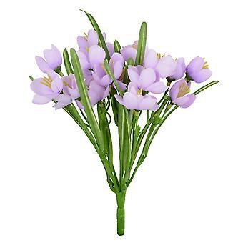 28cm Lilac Artificial Crocus Silk Flower Bush for Floristry Crafts