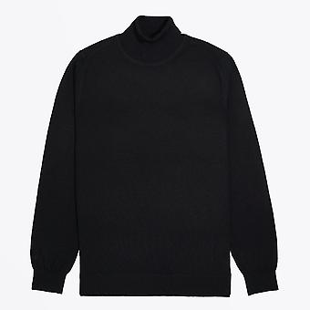 Thomas Maine  - Merino Roll-Neck Knit - Black