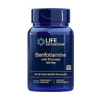 Benfotiamina con Tiamina 100mg 120 cápsulas vegetales