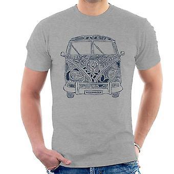 Volkswagen Camper Flowers Design Men's T-Shirt