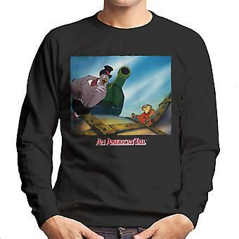 Una cola estadounidense Henri Give Fievel Hope Men's Sweatshirt